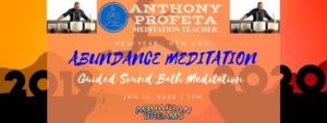 Abundance Meditation 2020: Guided Sound Bath @ Aquarian Dreams | Indialantic | FL | United States