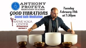 GOOD Vibrations: Sound Bath Meditation @ Native Yoga | Juno Beach | FL | United States