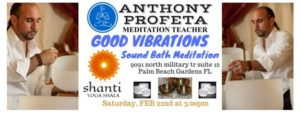 GOOD Vibrations: Sound Bath Meditation @ Shanti Yoga Shala | Palm Beach Gardens | FL | United States