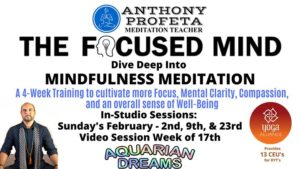 The Focused Mind: 4wk Mindfulness Meditation Training @ Aquarian Dreams | Indialantic | FL | United States