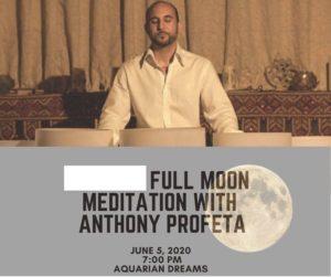 Full Moon Ocean Meditation with Anthony Profeta @ Aquarian Dreams   Indialantic   FL   United States