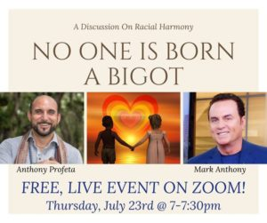 "Free Zoom Event ""No One Is Born A Bigot"""