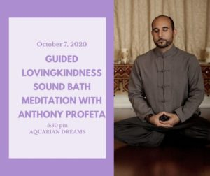 Guided Lovingkindness Sound Bath Meditation with Anthony Profeta @ Aquarian Dreams | Indialantic | FL | United States