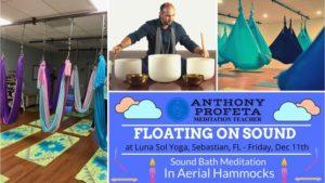 Floating On Sound: Aerial Hammock Sound Bath @ Luna Sol Yoga | Sebastian | FL | United States